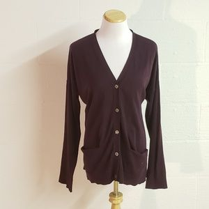LOFT》XL Purple Boyfriend sweater